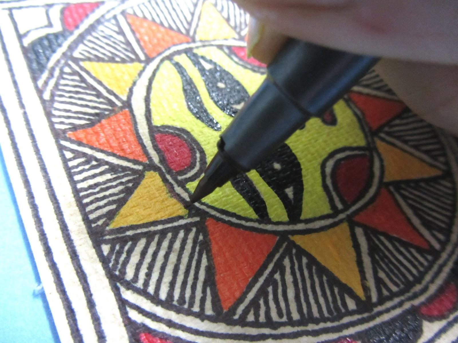 Crazylassis madhubani art practice and research blog how to make crazylassis madhubani art practice and research blog how to make madhubani greeting cards kristyandbryce Gallery