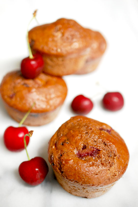 ... - There's always room for dessert!: Double chocolate cherry muffins