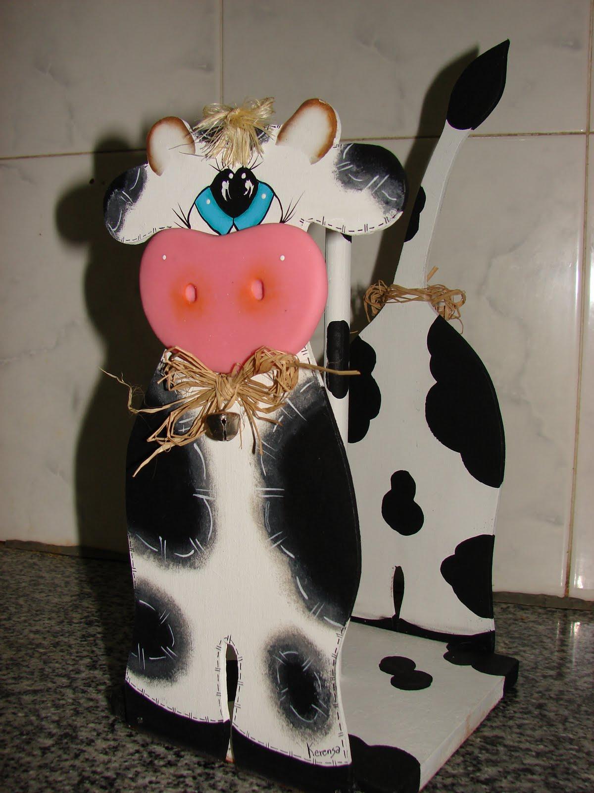 Artesanias kerensa portarrollos de cocina flor vaca gallina for Portarrollos de cocina