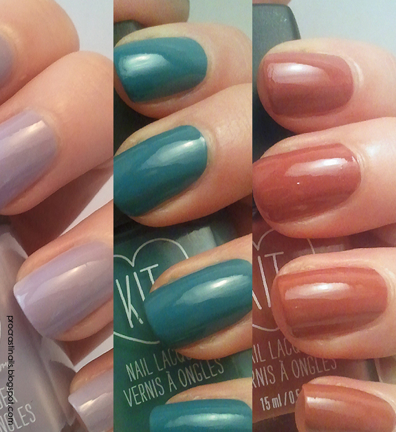 Rexall Kit Nail Lacquer Swatches: Moonlight, Teal Tango and Too Cool ...