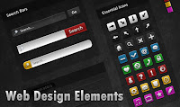 Dark & Mysterious Web Design UI Elements PSD