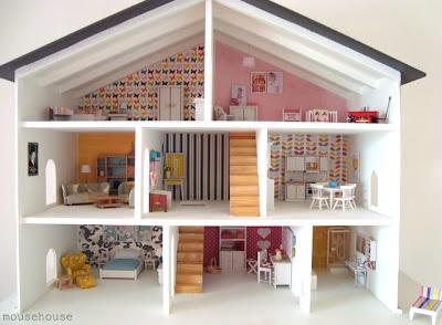 szedzki domek dla lalek, dolls house, pokój dla dziewczynki, ikea