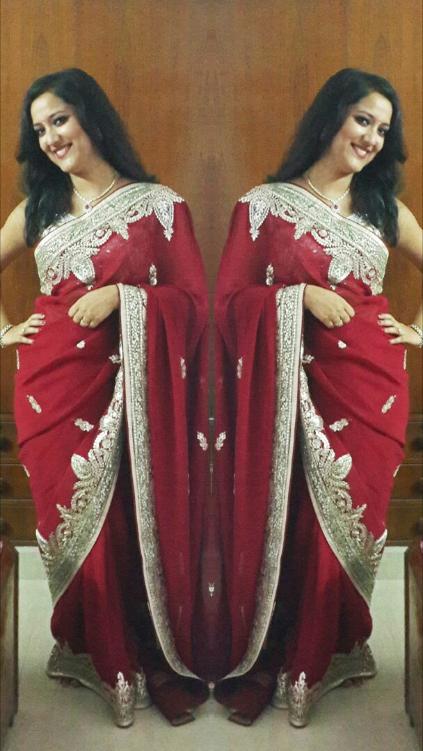 Ethnic Indian saree Diwali look