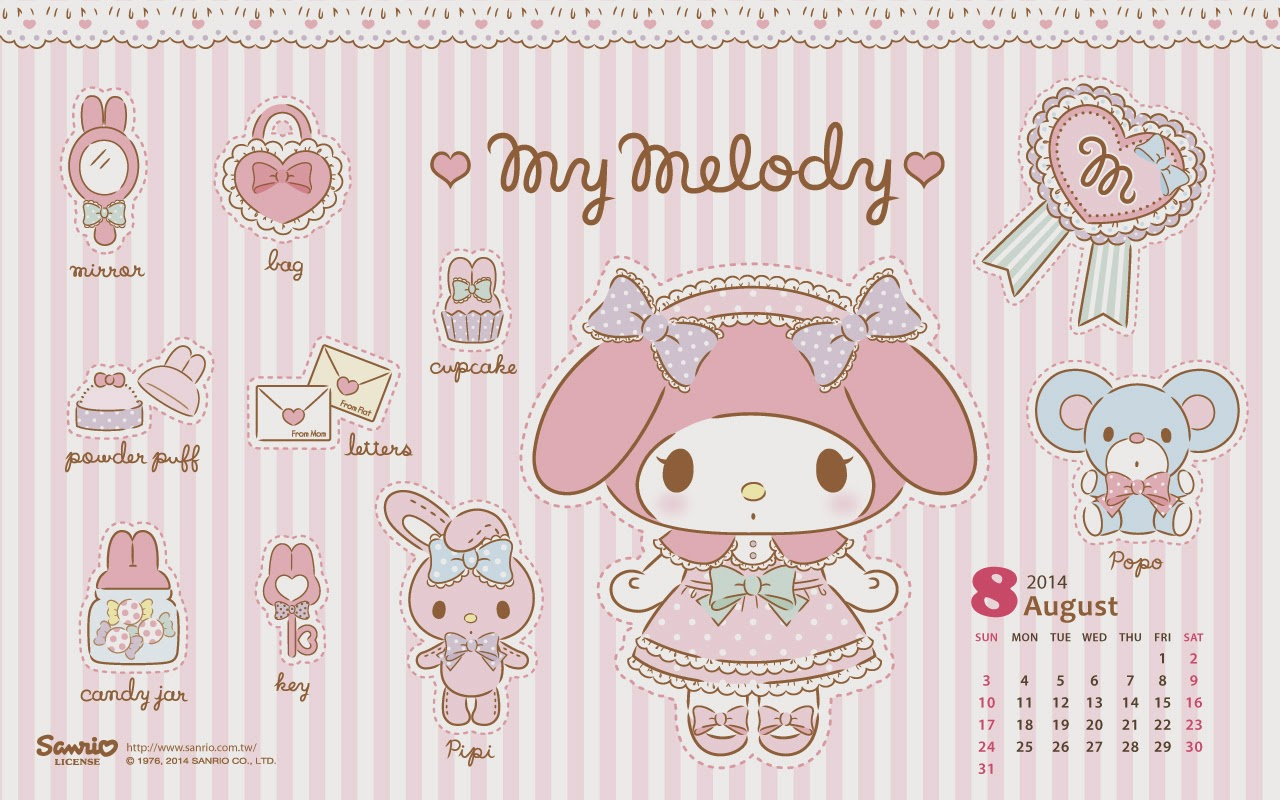 My Melody August 2014 Wallpaper