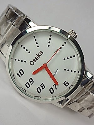 Jam Tangan Osaka Original 034 Silver White Jr.Red