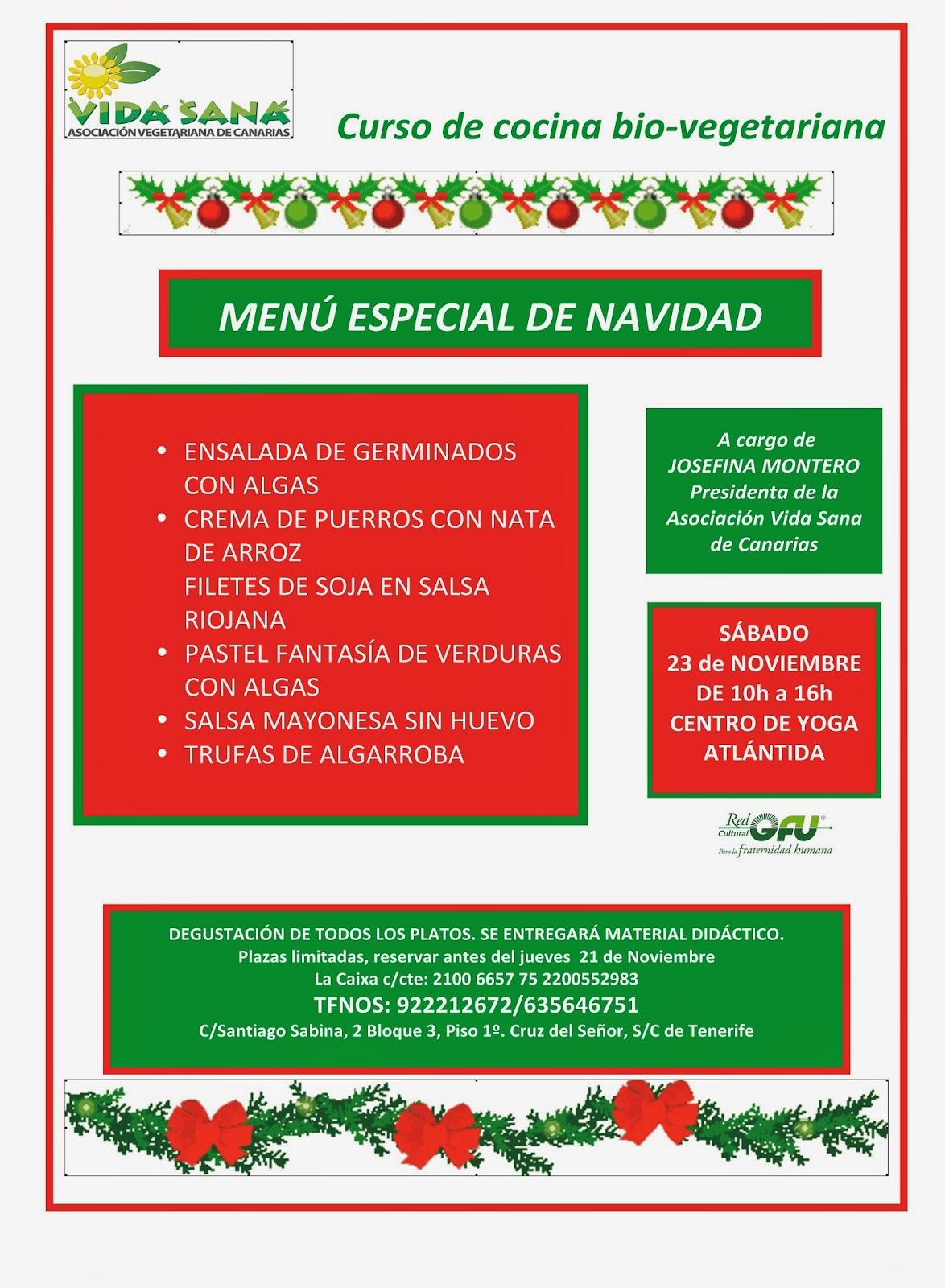 Asociaci n vegetariana vida sana de canarias 11 15 13 - Curso de cocina vegetariana ...