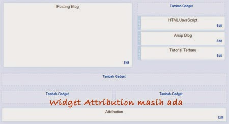 Widget attribution diberdayakan oleh blogger masih ada (hanya disembunyikan)