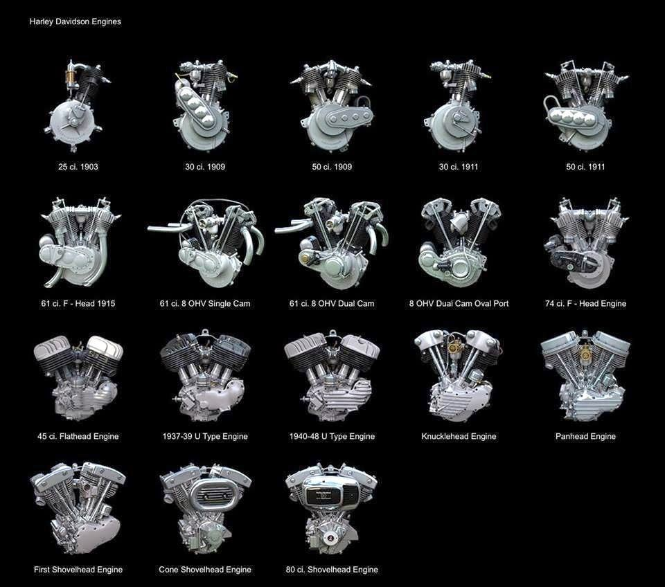 Just A Car Guy: Harley engine infographic, one of the best ...