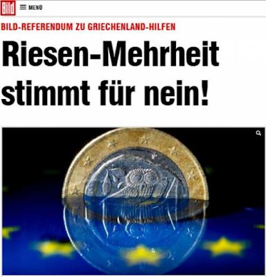 Οι Γερμανοί δημοσιογράφοι καταγγέλλουν «δημοψήφισμα»- πρόκληση της Bild
