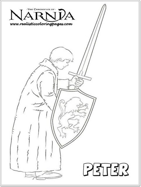 Peter Chronicles Of Narnia Colouring Pages