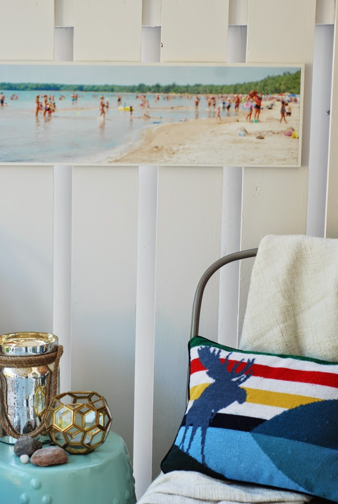 beachy art diy panoramic beach print