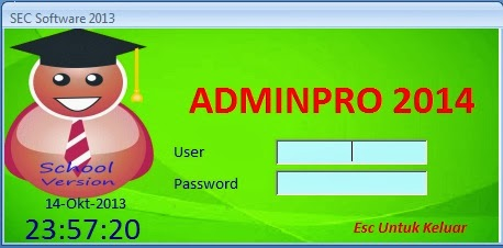 login form AdminPro 14