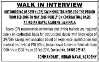 Indian Naval Academy Ezhimala indgovtjobs