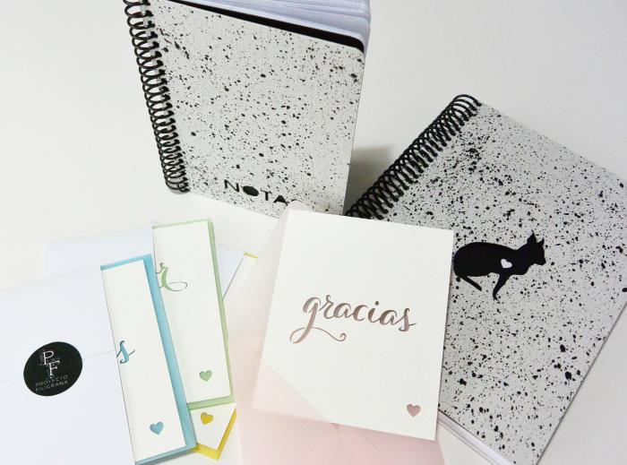Proyecto Filigrana - cuaderno libreta tarjetas