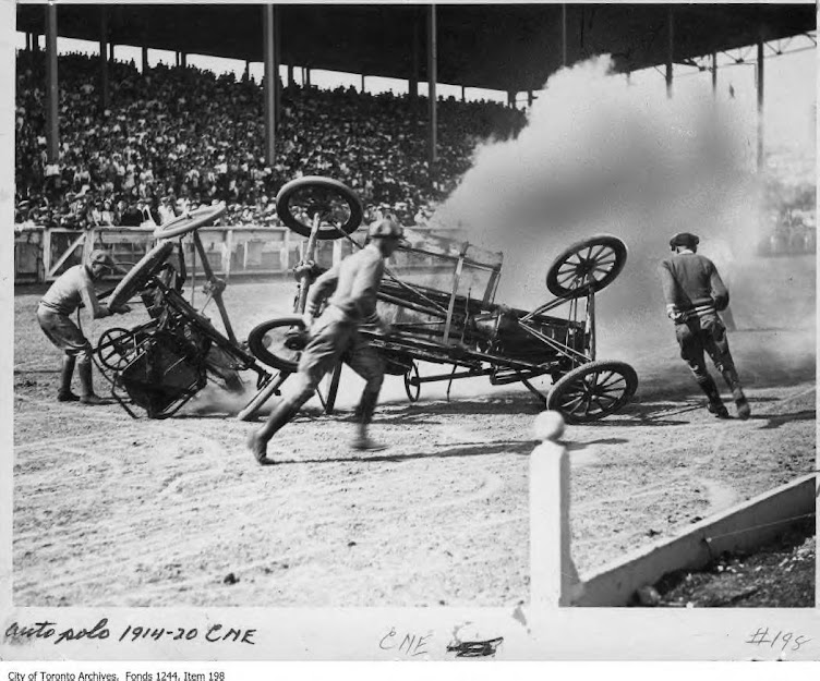 Auto Polo crash, 1914