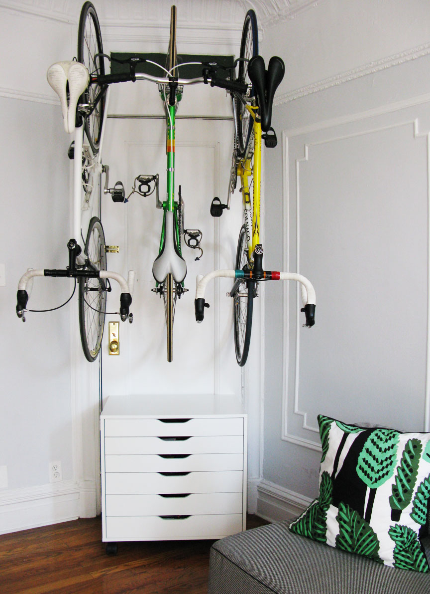 ... the love of bikes: at home: bike storage using IKEA and DELTA racks