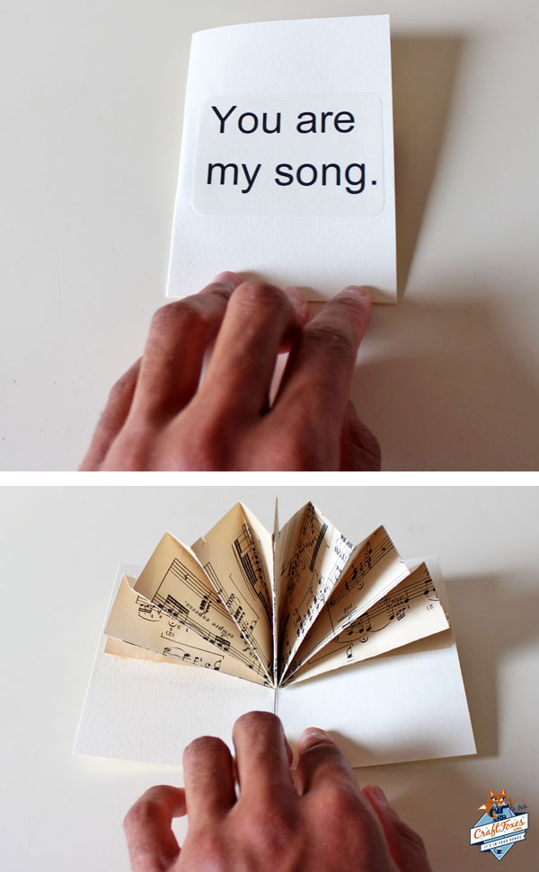 Make a Music Fan Pop-Up Card, by David Leon Morgan for CraftFoxes