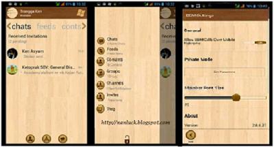 BBM Mod Windows Phone Wood Theme Version 2.8.0.21 Apk New Fitur