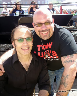 (L to R) A.D. Amorosi and Tony Luke Jr., Philly Burger Brawl - Photo by Glamorosi