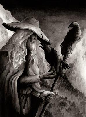 Odin com Huginn e Muninn