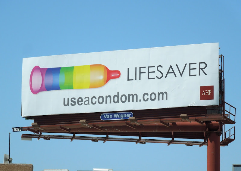 Lifesaver condom billboard