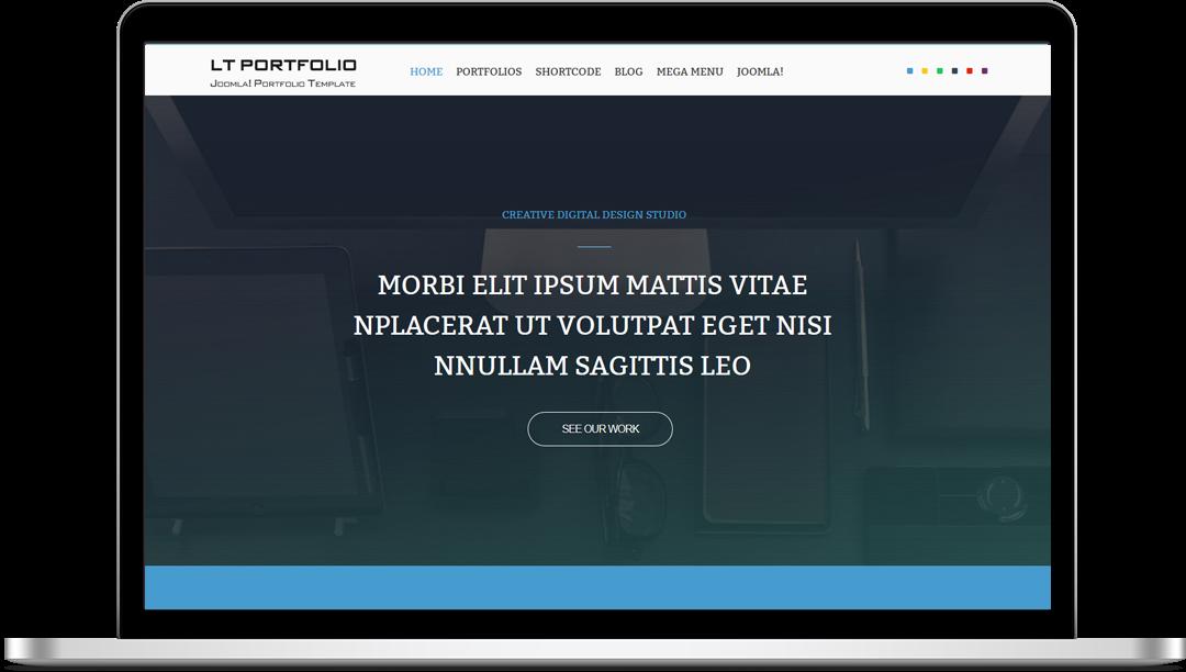 LT Portfolio Onepage - Free Joomla! Template