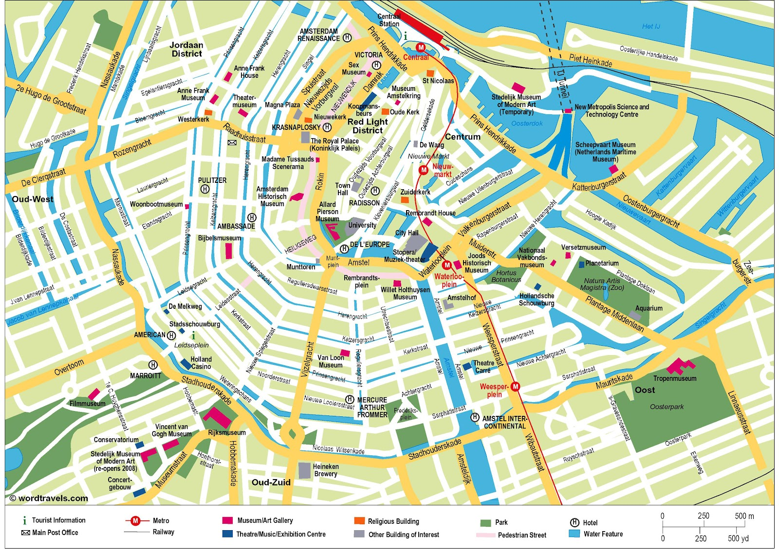 Map of Amsterdam The Netherlands