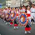 Tottori Shan-Shan Matsuri ~E a dança com sombrinhas coloridaas