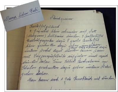 Rezeptheft in altdeutscher Schrift