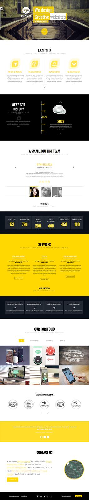 Premium One Page Joomla Template