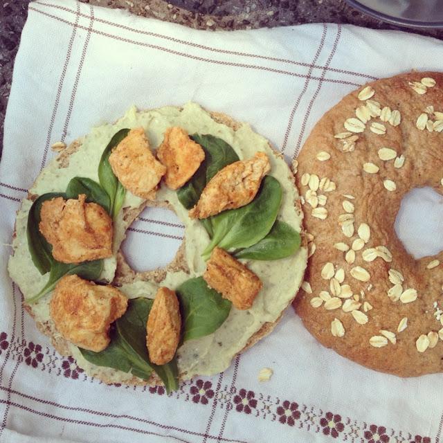 bagels poulet artichauts