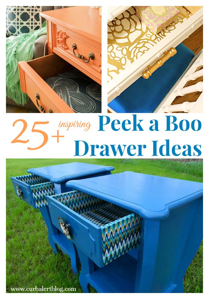 25 Inspiring Peek a Boo Drawer Ideas via Curb Alert! www.curbalertblog.com