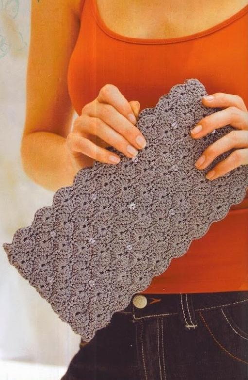 Patrones asgaya bolso de mano a crochet for Manualidades de ganchillo bolsos