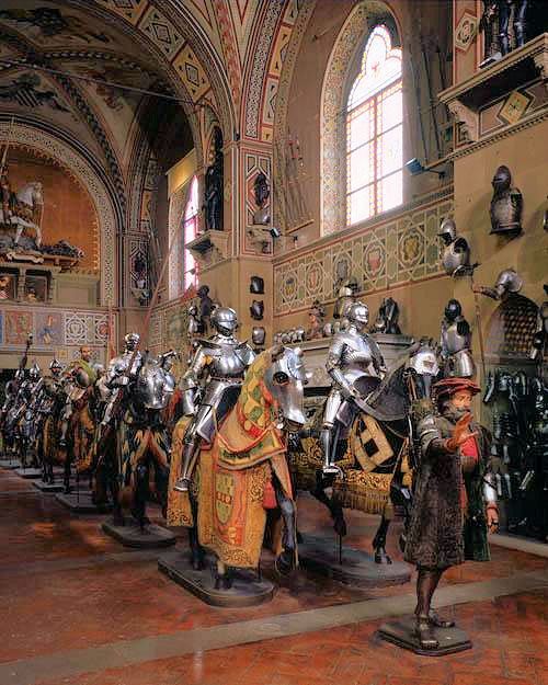 The Cavalcade Room brings to life the European armoury with mounted gleaming knights upon their trusty steeds donned in their finest ceremonial costumes. Photo: Courtesy of the Stibbert Museum. Unauthorized use is prohibited.