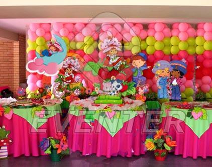 Decoración de globos para fiesta de fresita - Imagui