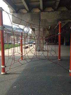 climbing structure, underpass playground toronto