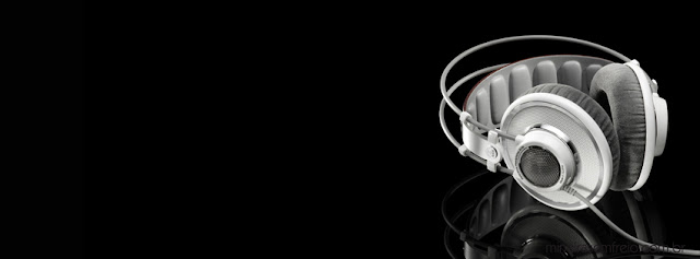 Facebook cover headphone