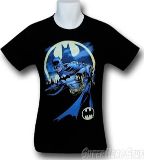 Batman Bat Signal black t-shirt from SuperHeroStuff