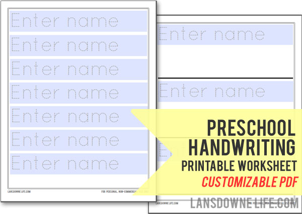 Traceable Name Worksheets – Name Worksheets