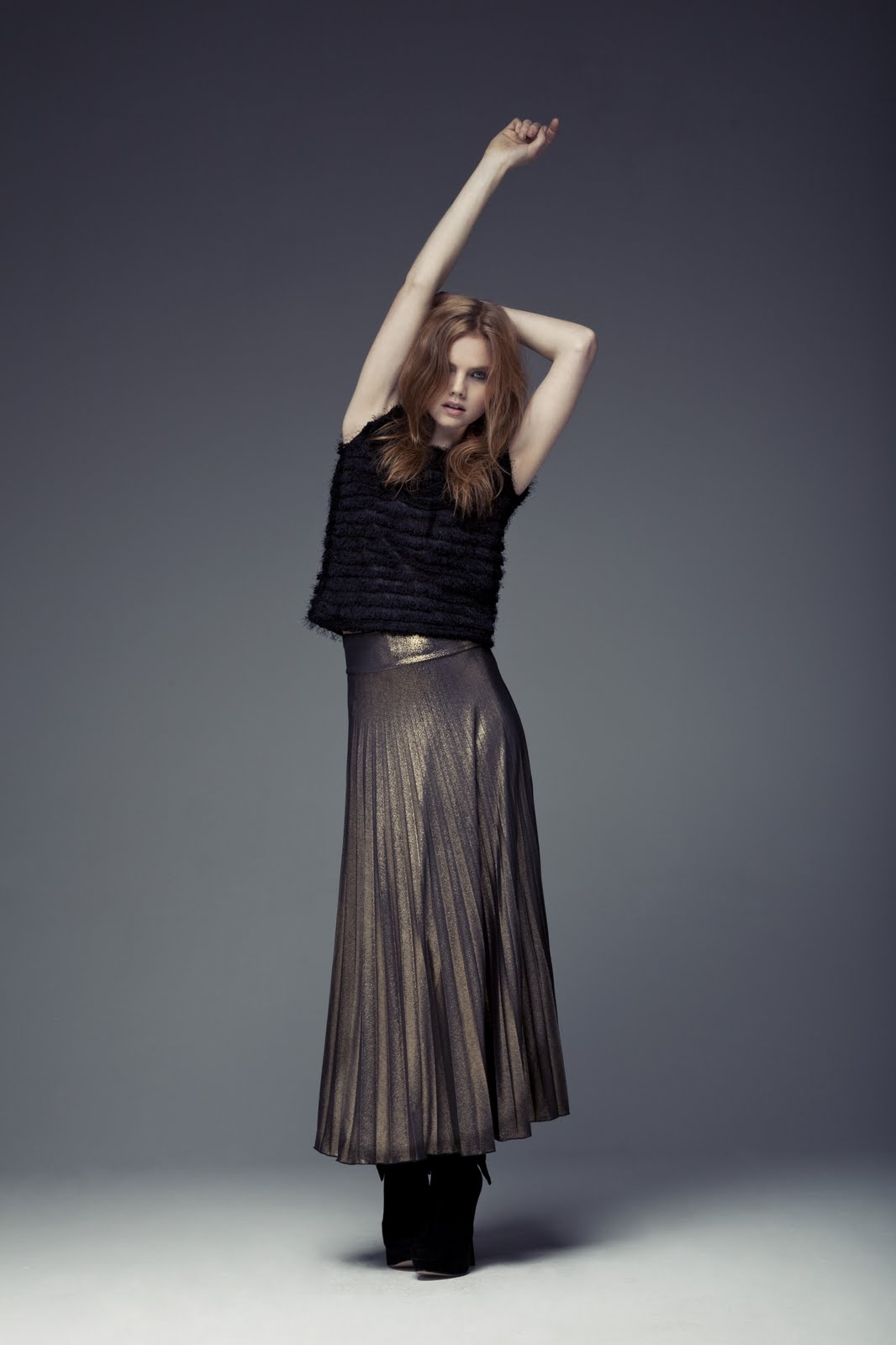 primark gold maxi skirt south molton st style