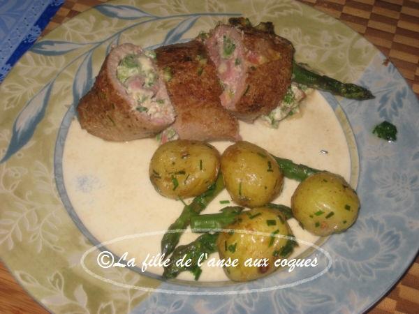 La fille de l 39 anse aux coques paupiettes de veau et asperges - Cuisiner des paupiette de veau ...
