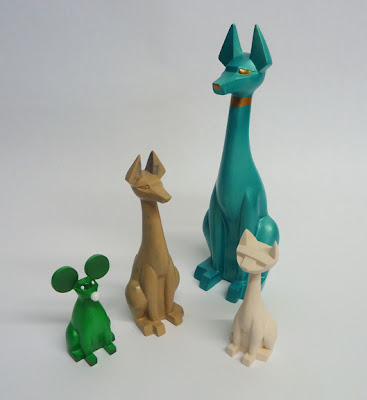 First Look: Mini Pharaoh Hound Resin Figure by Argonaut Resins - Sucio Mouse, Mini Pharaoh Hound, Pharaoh Hound & Tuttz Mini