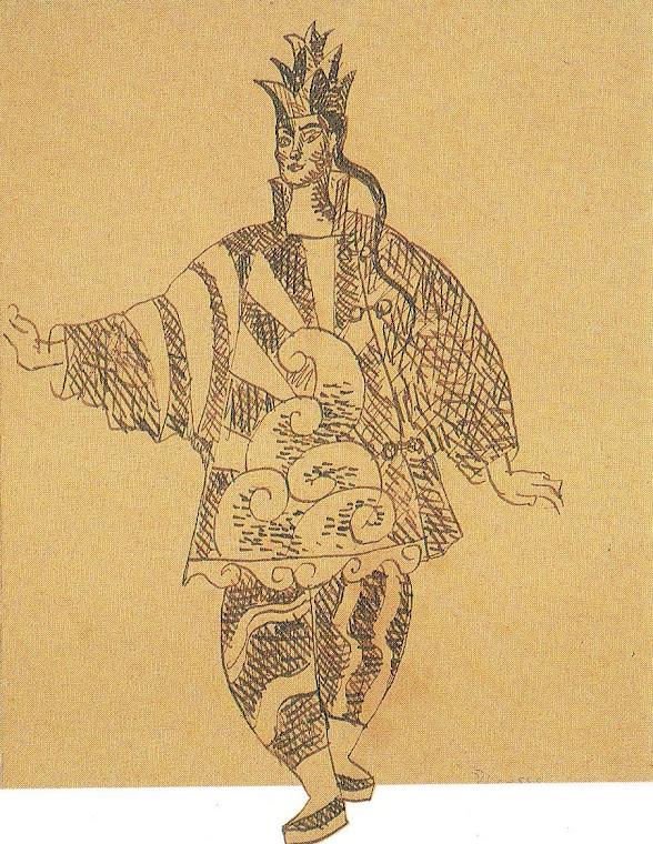 PICASSO, Pablo. Desenho de figurino do Prestidigitador Chinês, figurino envergado por L. Massine.