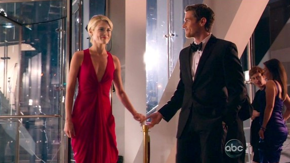 Tv style 2 blondes and a red dress on revenge and 666 park avenue