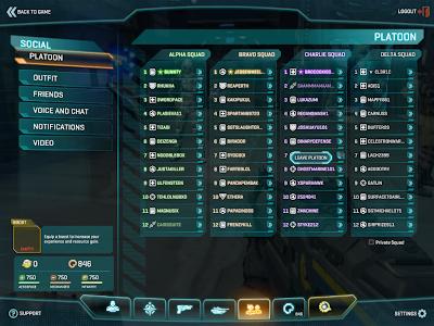 PlanetSide 2 - Full Platoon
