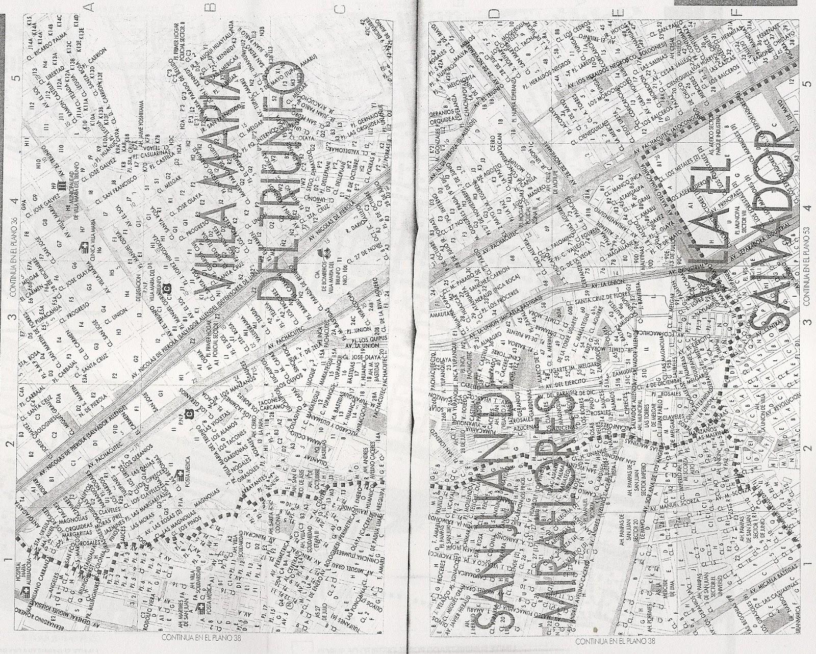 Para mis tareas mapa diagrama villa mar a del triunfo for Plano de villa el salvador