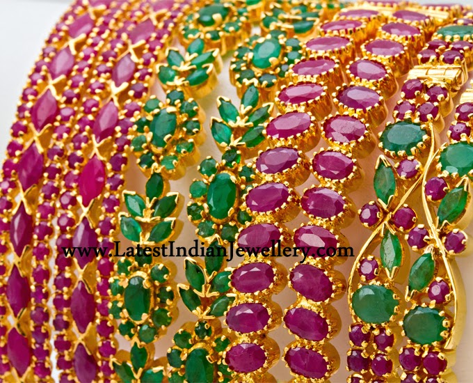 Latest Ruby Emerald Bangles
