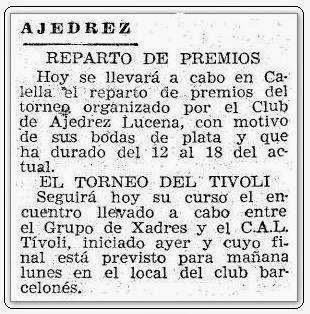 Recorte de prensa del periódico Mundo Deportivo de 19 de agosto de 1951 sobre el Match Internacional de Ajedrez Interclubs