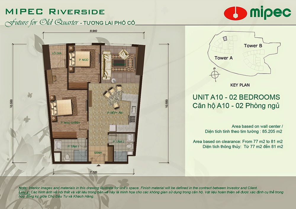 Căn A10 cư xá Mipec Riverside
