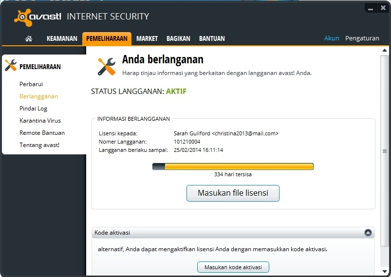 Screenshoot, Link MediaFire, Download Avast! Internet Security 8.0.1483 Final Full Version License